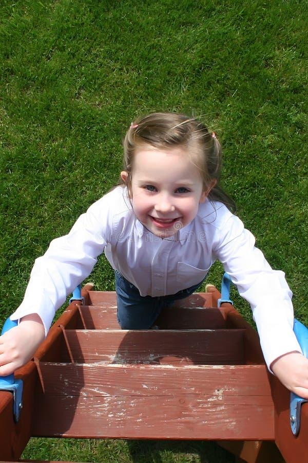 Download Girl on Ladder stock image. Image of female, ladder, child - 8568327