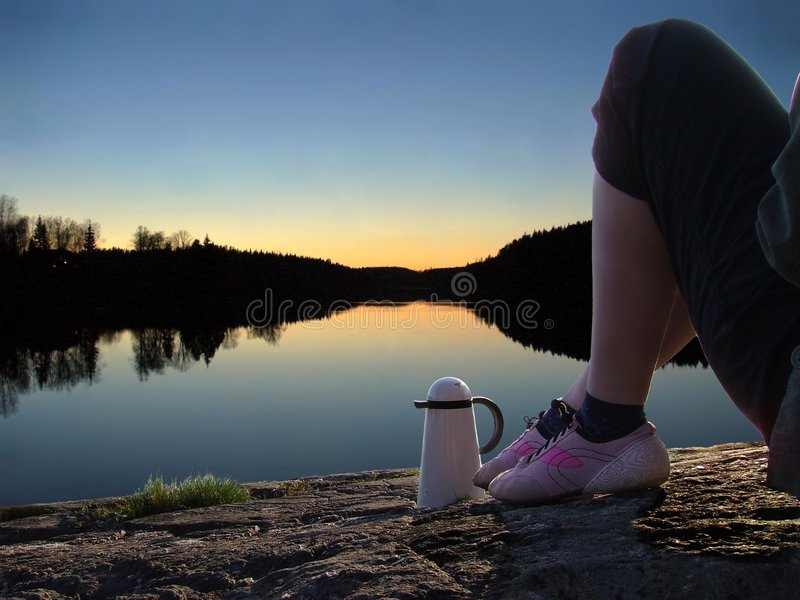 Download Girl-by-lake Stock Photo - Image: 2323420