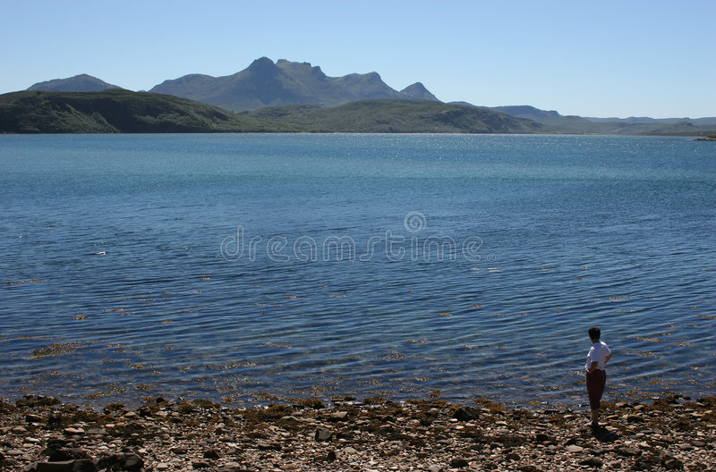 Girl in a lake stock photography
