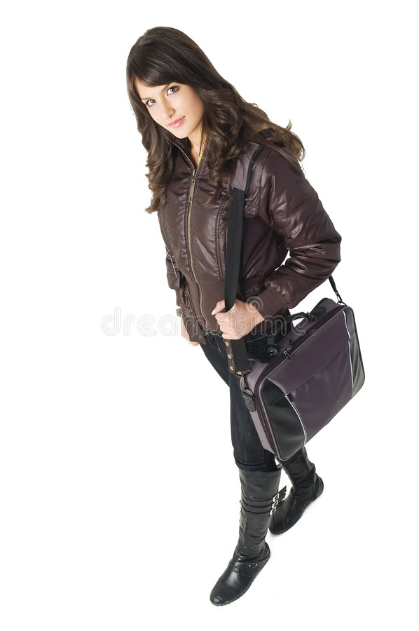 Download Girl With Laptop Bag Stock Images - Image: 3787754