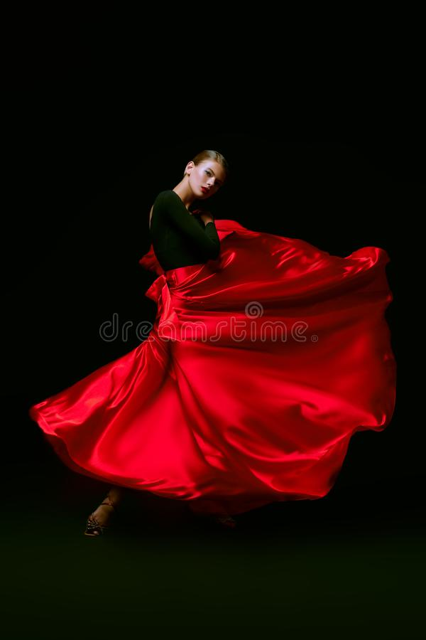Girl latino dancer royalty free stock photo