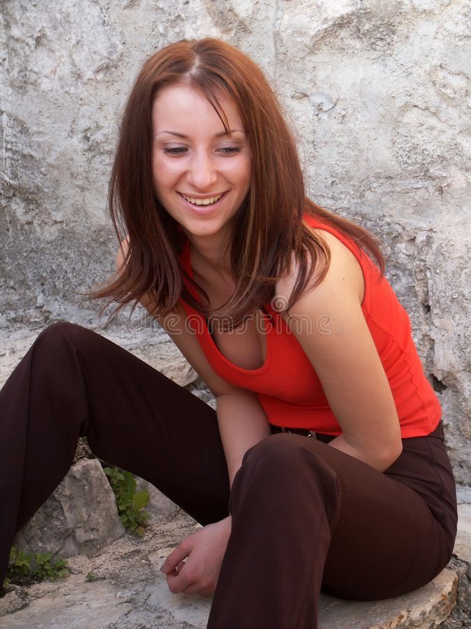 Girl laughing stock images
