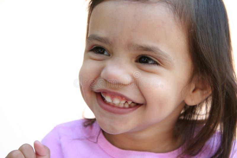 Girl Laughing stock image