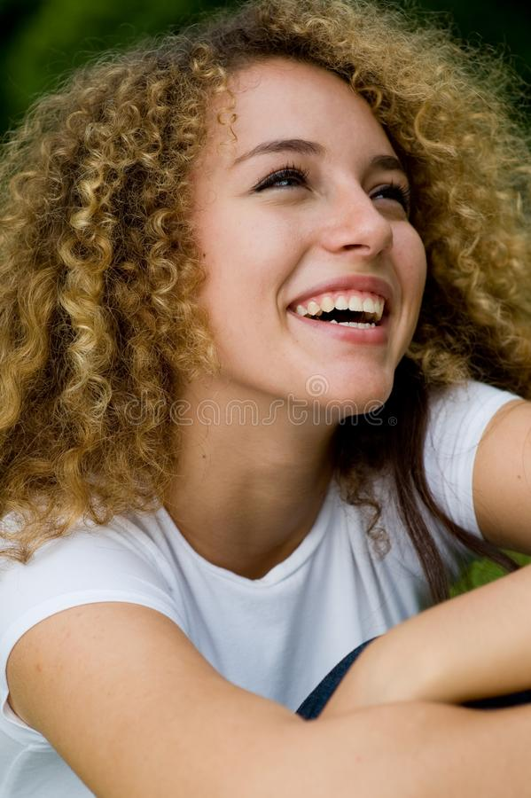 Girl Laughing stock image