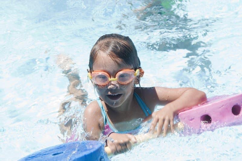 Download Girl learning to swim stock image. Image of latin, enjoying - 11378767