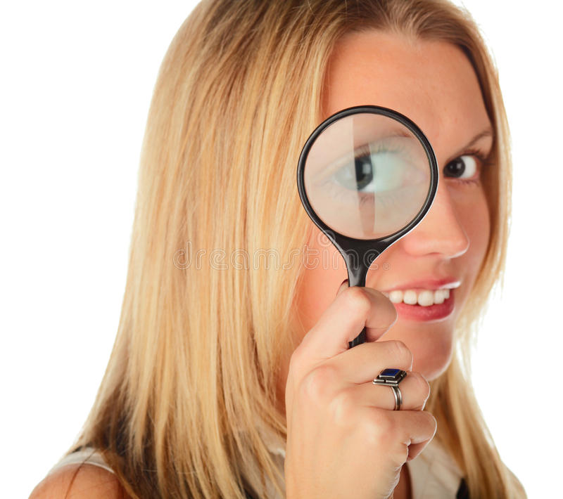 Download Girl with lens stock photo. Image of instrument, close - 11661482