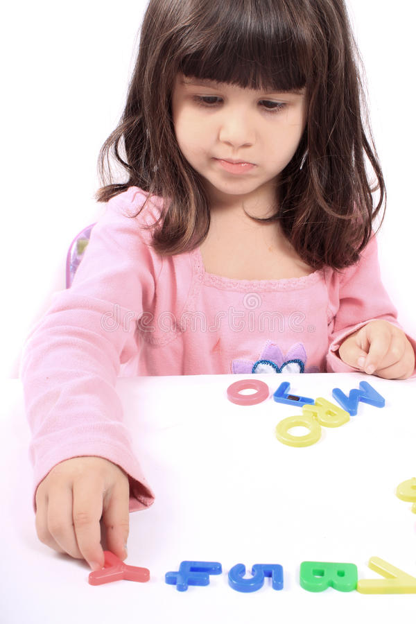 Download Girl And Letters And Numbers Stock Image - Image: 21292839