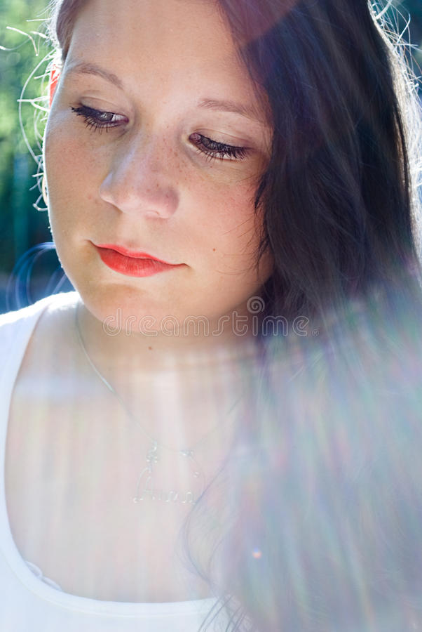 Download Girl in light stock image. Image of eyes, woman, beautiful - 19029195