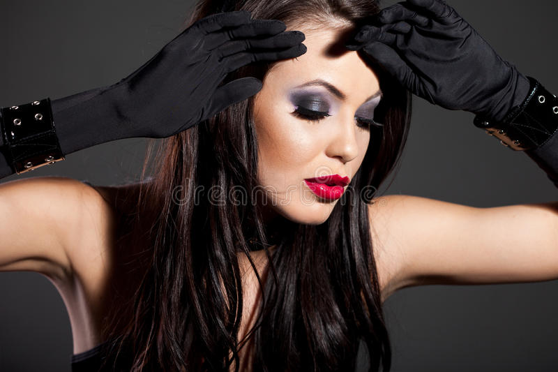Download Girl like a cat stock image. Image of girl, makeup, beautiful - 22348089