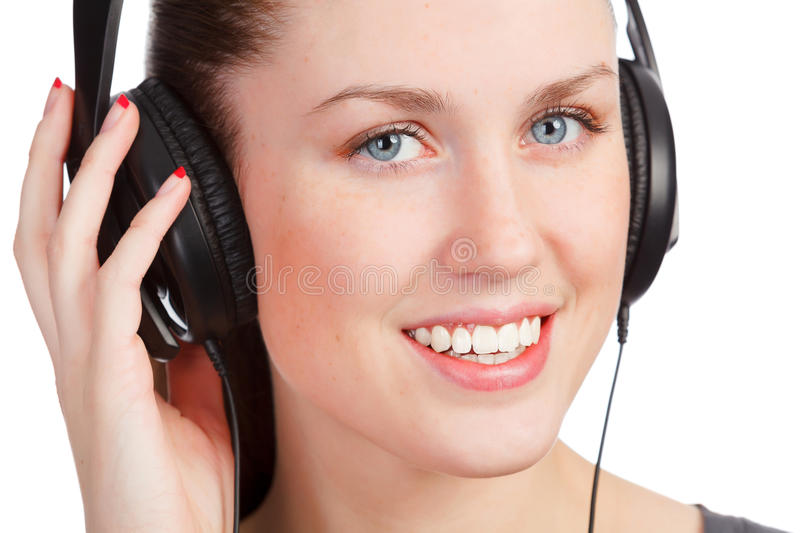 Download Girl listening music stock photo. Image of melody, close - 23630728