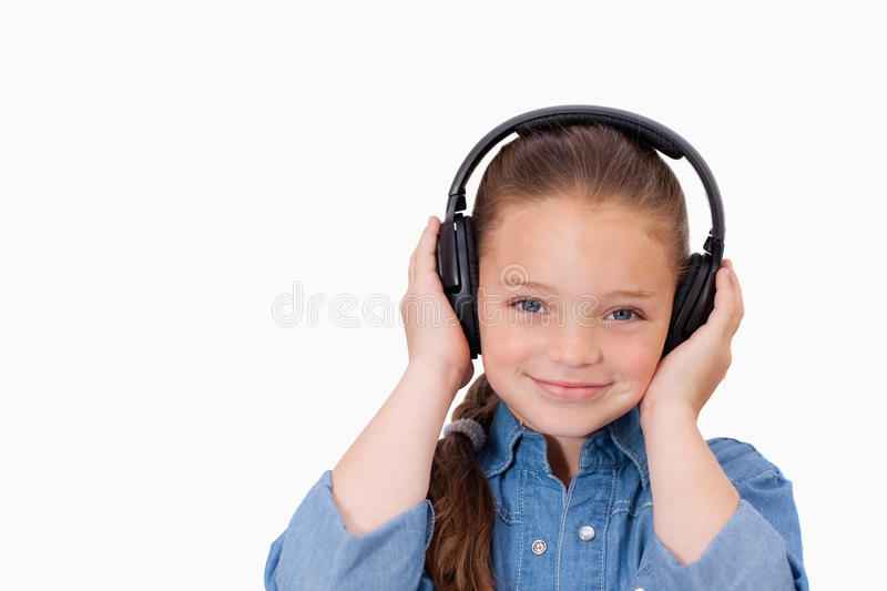 Download Girl listening to music stock photo. Image of face, leisure - 22691626