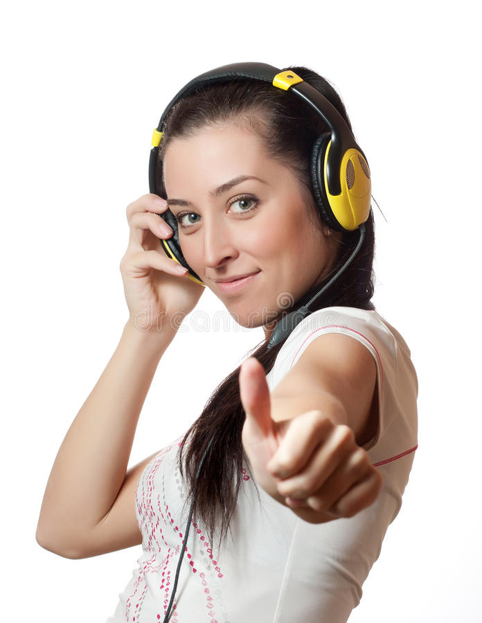 Download Girl listening to music stock image. Image of girl, smiling - 22932731