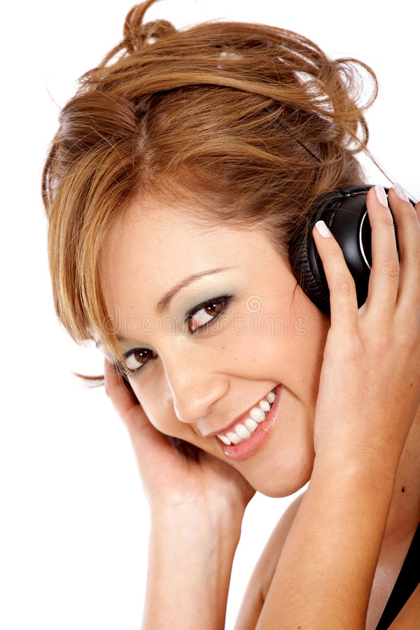 Download Girl listening to music stock photo. Image of hearing - 4596898