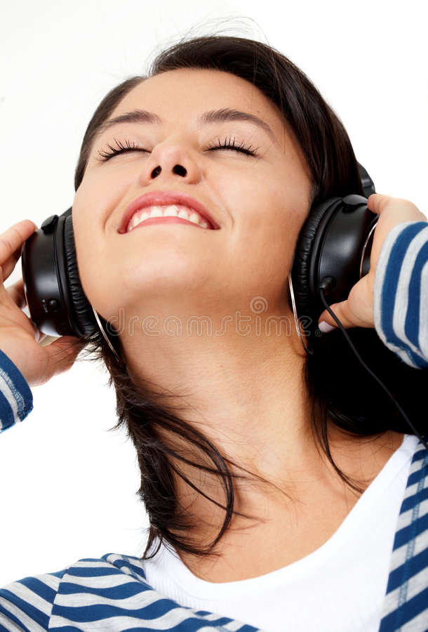 Download Girl listening to music stock photo. Image of enjoy, head - 4633836