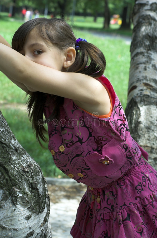 girl little royaltyfri bild