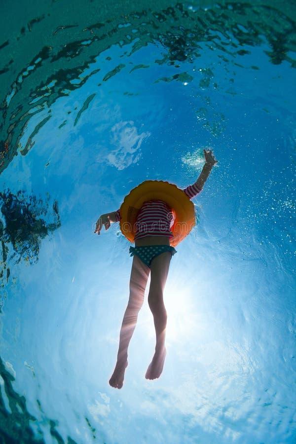 girl little pool стоковое фото