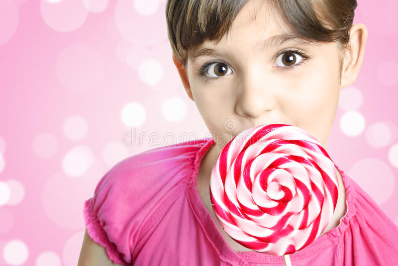 Download Girl with lollipop stock photo. Image of candy, little - 19278448