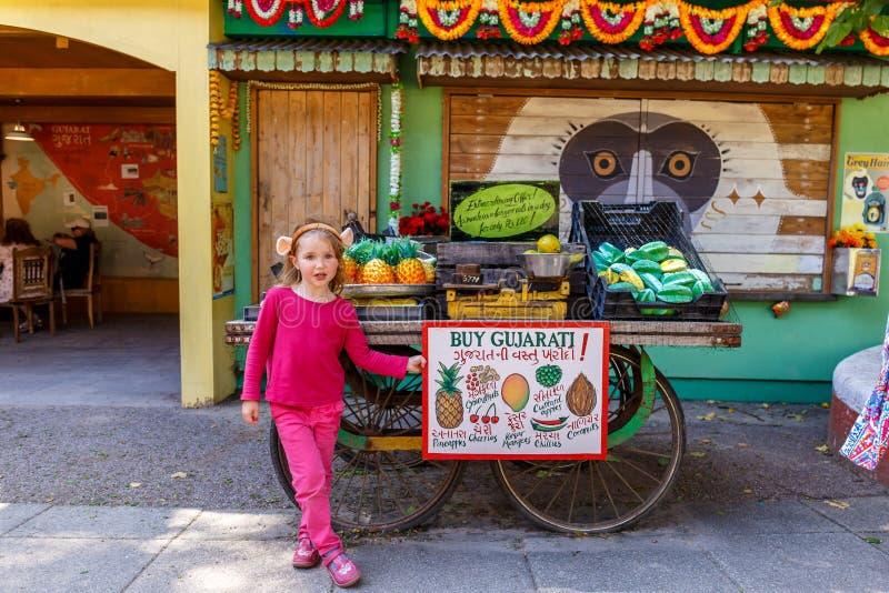 Girl in London zoo stock photography