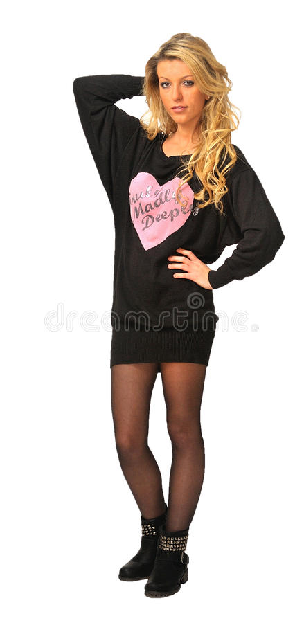 Girl With Long Blond Hair Royalty Free Stock Photos