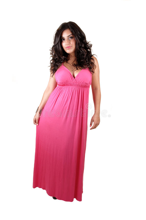 Girl in long dress. stock photos