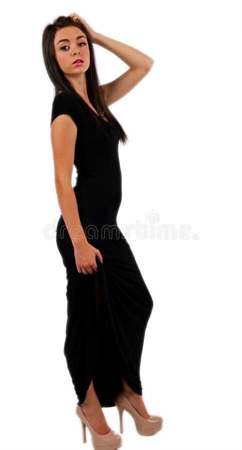 Download Girl In A Long Evening Gown Stock Images - Image: 26626734