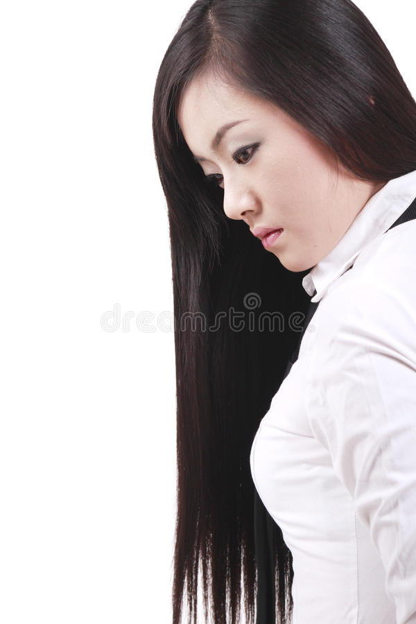 Download Girl with long hair stock image. Image of attractive - 13187635
