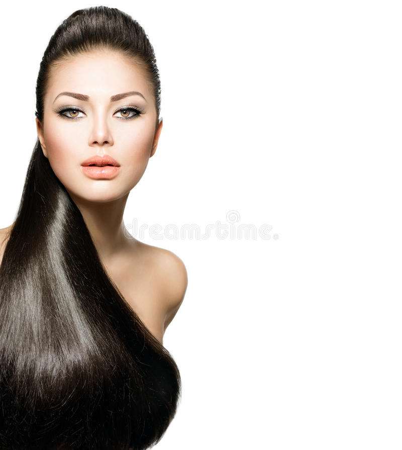 Girl with Long Straight Hair