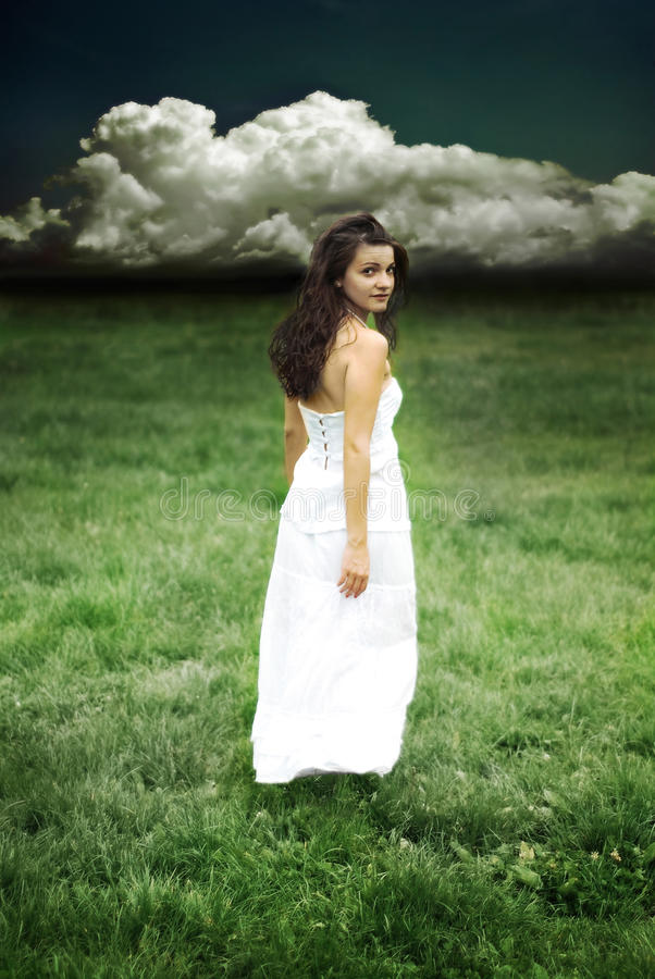 Download Girl Looking Back Royalty Free Stock Photo - Image: 25361195