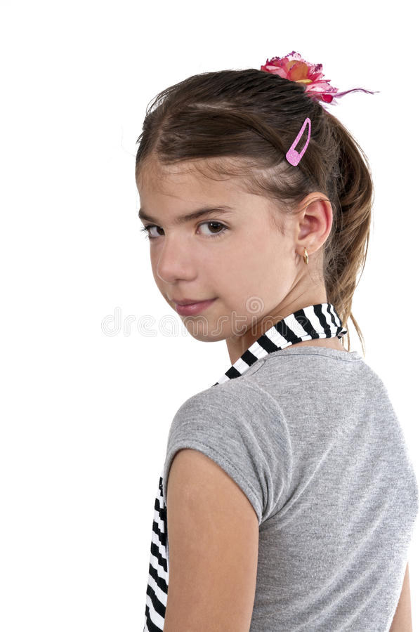 Download Girl looking back stock photo. Image of attractive, human - 31733070
