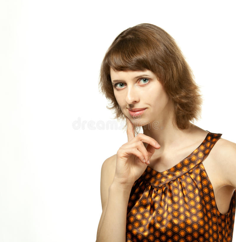 Download The girl looking intent stock photo. Image of intently - 23033466