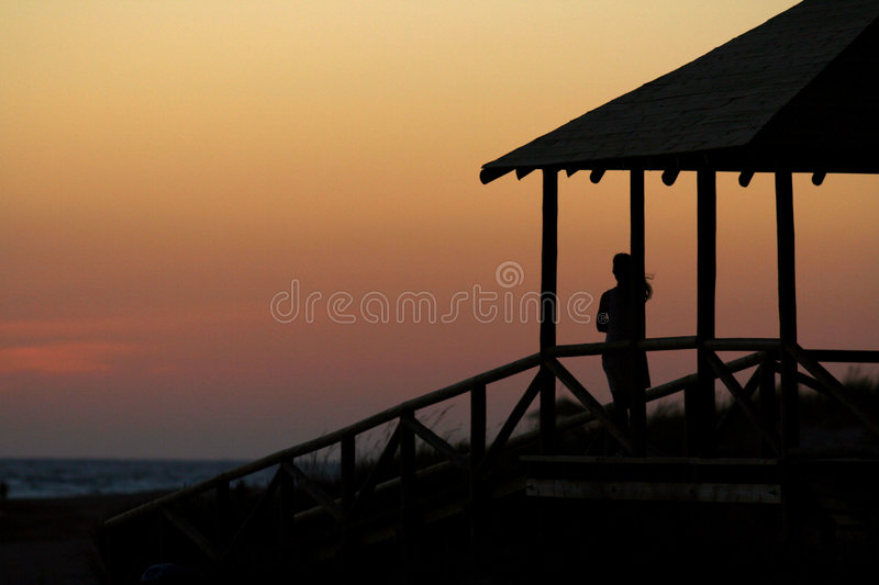 Download Girl looking out to sea stock image. Image of costa, future - 2825977