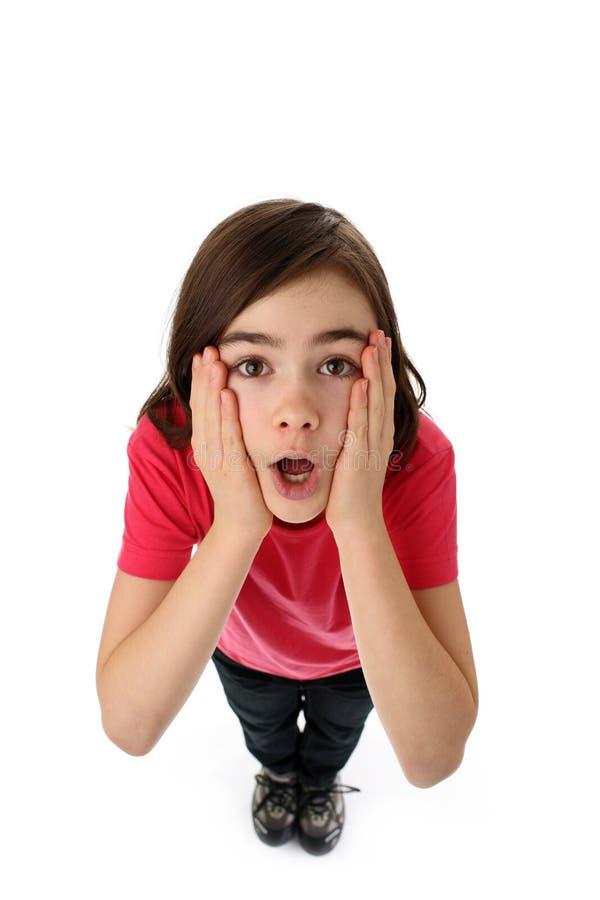 Girl looking up royalty free stock photos