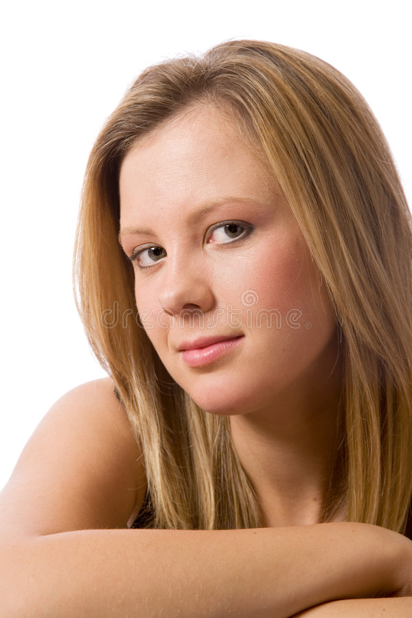 Girl looking at you royalty free stock image