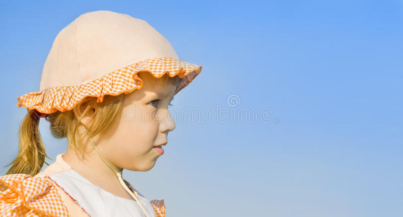 Download The Girl Looks Into The Distance Stock Photo - Image: 15253860