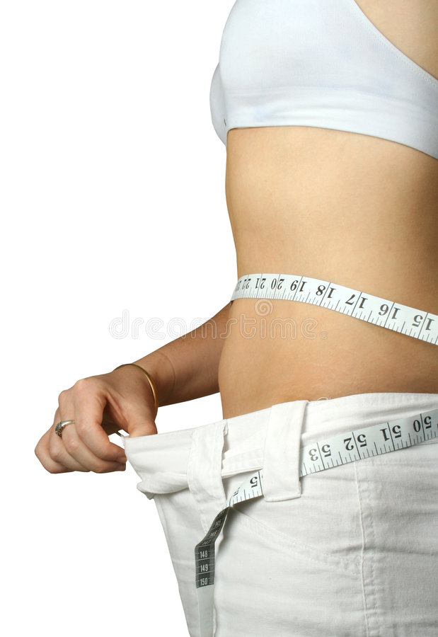 Download Girl loss weight stock image. Image of white, waist, gain - 193501