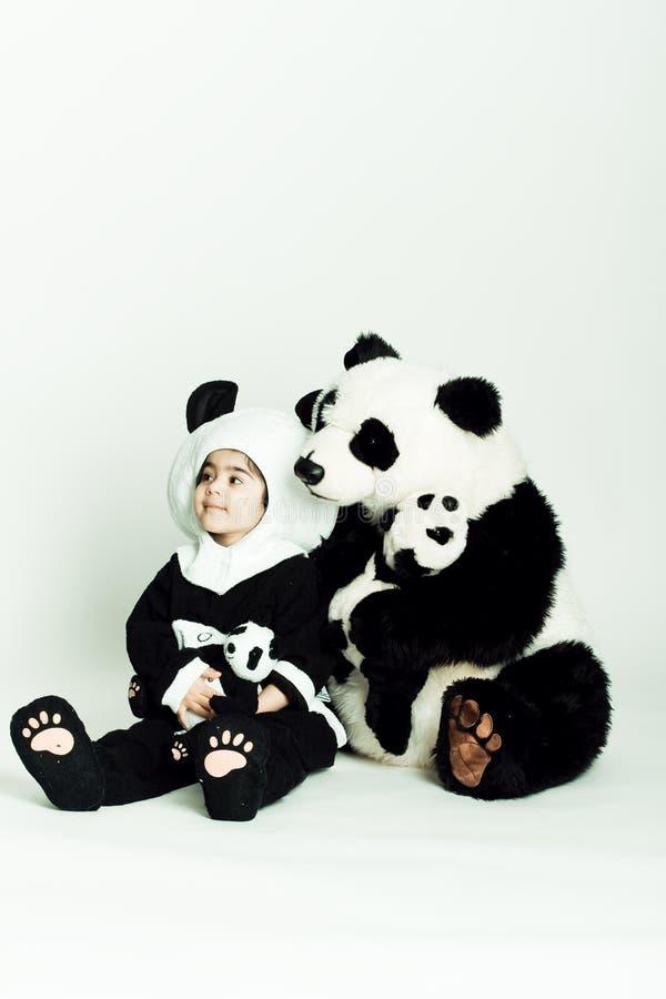Free Girl Loving Panda Stock Photos - 4720673