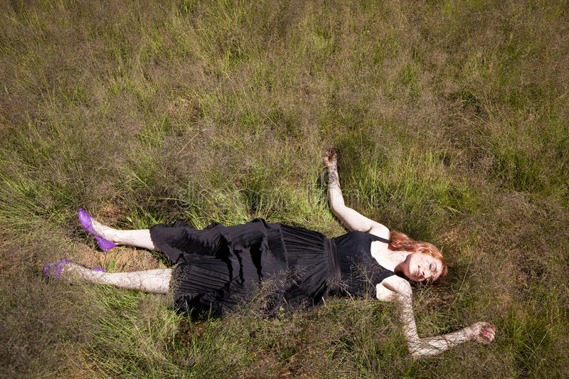 Download Girl lying in Grass stock image. Image of resting, paddock - 22746989