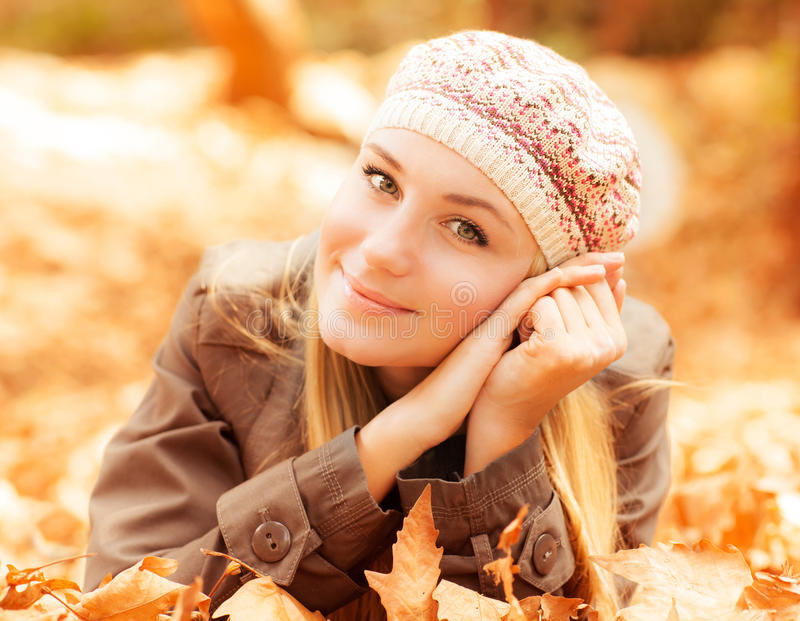 Download Girl lying on the ground stock image. Image of lady, laying - 27372291