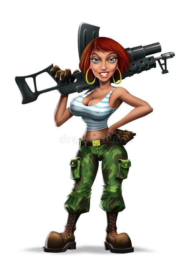 Girl With Gun - Download Free Vectors, Clipart Graphics & Vector Art