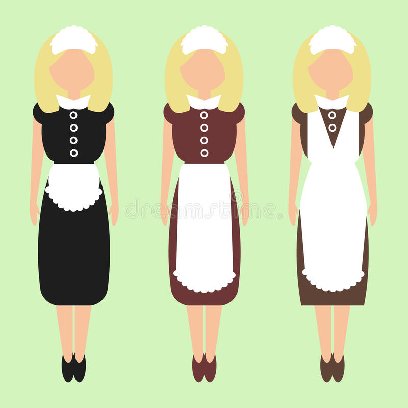 Girl-maid royalty free stock images