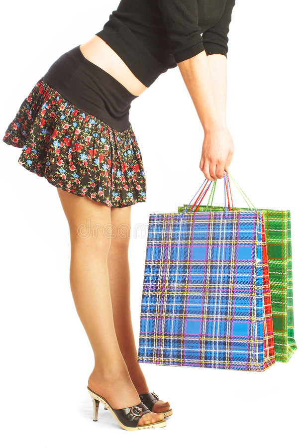 Download The girl makes purchases. stock image. Image of cheerful - 2430451