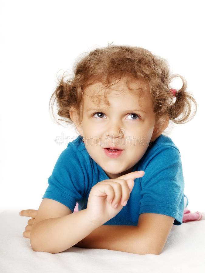 Girl making faces royalty free stock images