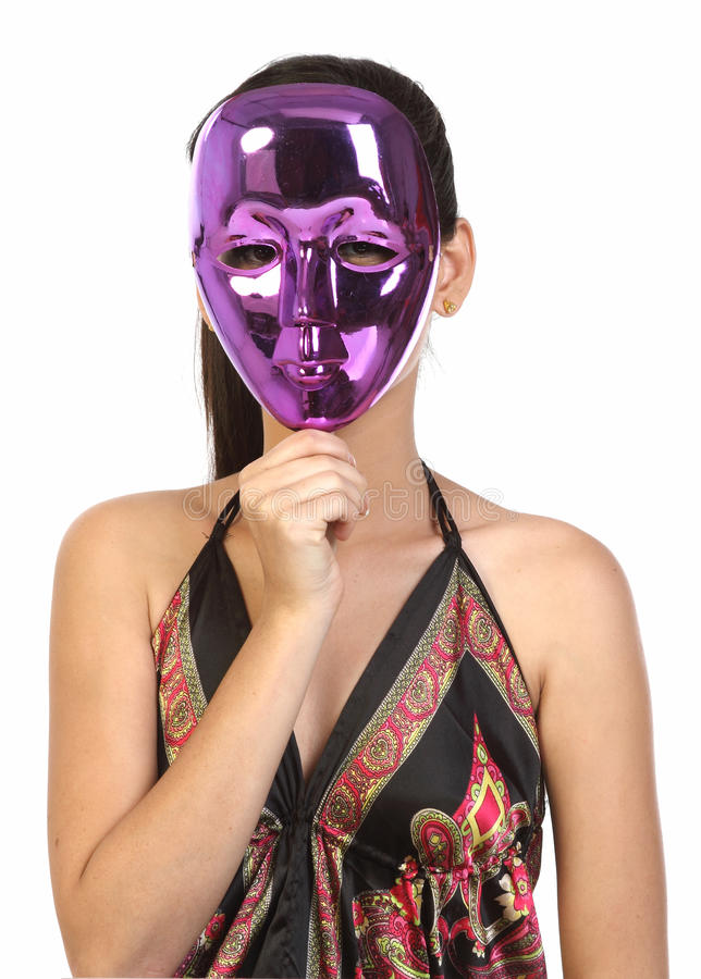 Girl In The Mask Royalty Free Stock Image
