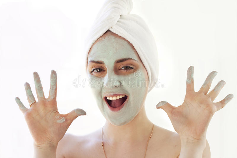 Download Girl with mask stock image. Image of health, dayspa, brush - 25259777