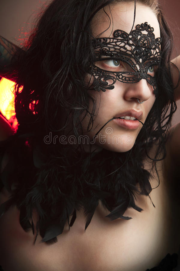 Download Girl In Masquerade Mask Stock Images - Image: 22670634