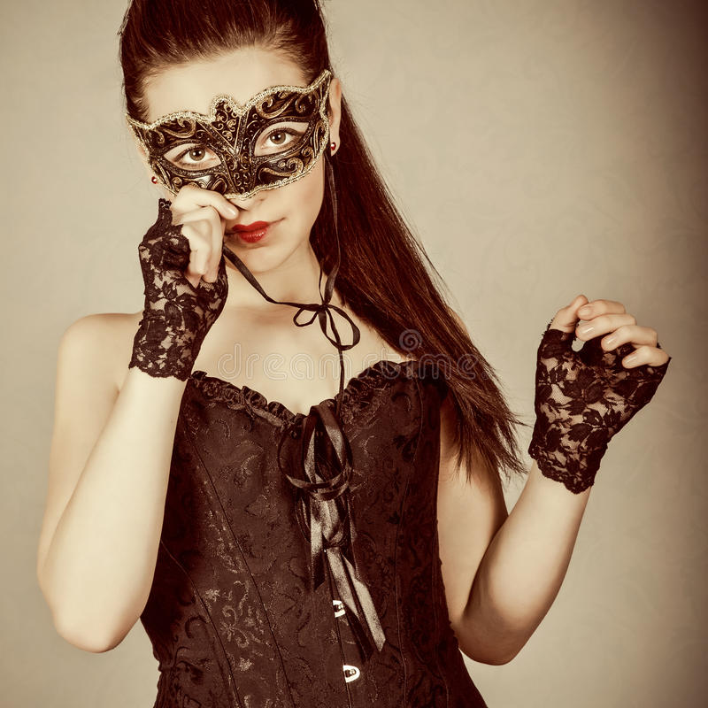 Download Girl in masquerade mask stock image. Image of event, mystery - 23951951