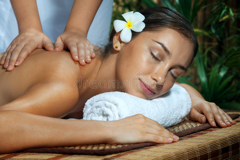 Girl on massage royalty free stock images