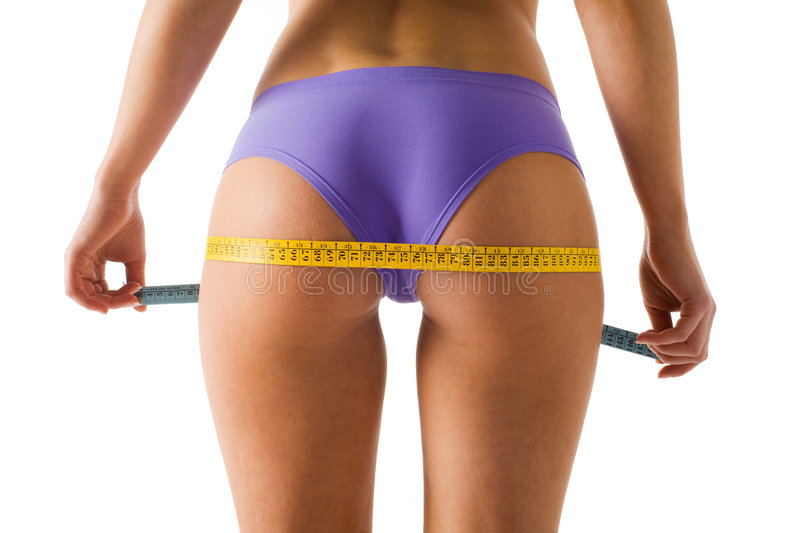 Download Girl measuring her body stock photo. Image of fatness - 5081746