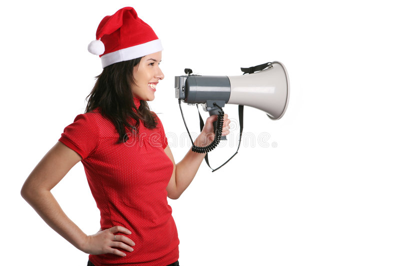 Download Girl with a megaphone stock image. Image of face, isolated - 7633601