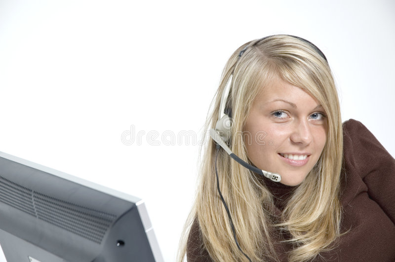 Download Girl / microphone headset stock image. Image of palm, inspiration - 324887
